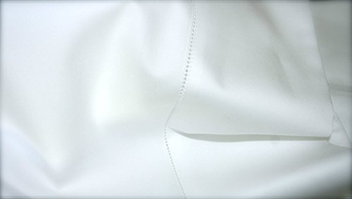 - Sferra Bros. 600 Thread Count California King White Sheet Set 100% Extra Long Staple Cotton Sateen Made in Italy