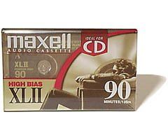 Maxell(R) Cassette Audio Tape, 90-Minute High Bias Standard, Pack Of 4 (Discontinued by Manufacturer)