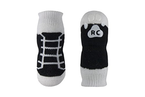 RC Pet Products PAWks Dog Socks, X-Large, Black Sneakers by RC Pet Products