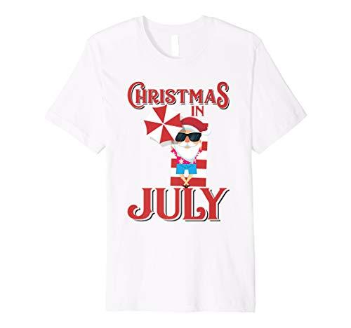 (Christmas In July Shirt   Cute Beach Santa Claus Tee Gift)