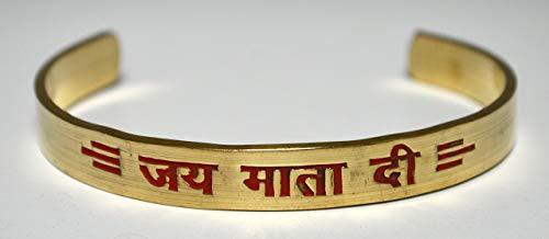 Om Goddess Durga brass healing bracelet | Jai Mata Di | Blessed & Energized | US ()