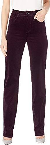 (FDJ French Dressing Jeans Women's Plush Cord Suzanne Straight Leg Plumberry 14 33 )