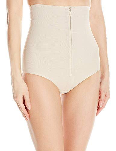 Annette Women's Faja Extra Firm Control High Waisted Shaper with Invisible Zipper, Beige, X-Large
