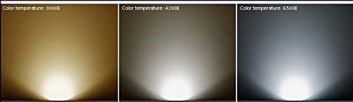 Color : Neutral White LED Light 10Pcs MR16 LED Spotlight 4 Watt 270Lumens 35W Equal Holegen 3000//4000K//6000K 45 Deg Narrow Flood 12V DC GU5.3 Base