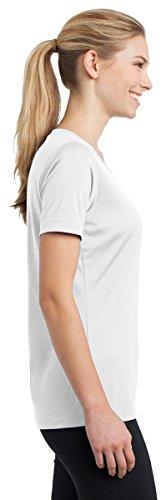 Sport-Tek Mesdames T-shirt à manches longues pour homme Col en V Competitor lst353ls -  Vert - XXXX-Large