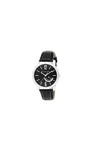 Bvlgari Bvlgari Mechanical Black Dial Steel Mens Watch - Bvlgari Bag Black