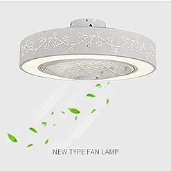 JINWELL Ventilatore a soffitto a soffitto a LED a LED creativo moderno con telecomando silenzioso ventilatore a soffitto Camera da letto Camera dei bambini Illuminazione (59 * 9.5cm 2160 Lumen)