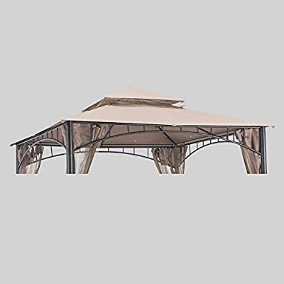 Sunjoy 110109382 Original Replacement Canopy (Deluxe Version) for Madaga/Havana Gazebo (10X10 Ft) L-GZ136PST-2/7/9 Sold at Target/CTC, Khaki: Garden & Outdoor