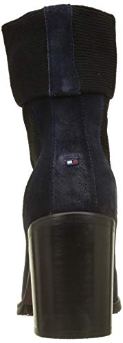 Bottes Tommy et Sock Souples Heeled Bottines Boot Hilfiger Knitted Femme Suede nqwcrY4qB