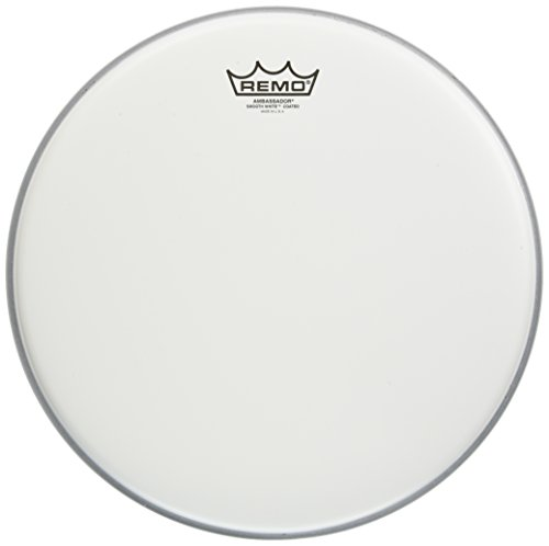 (Remo BA-0114-JP 14-Inch Ambassador Drum Head, Coated Smooth White)