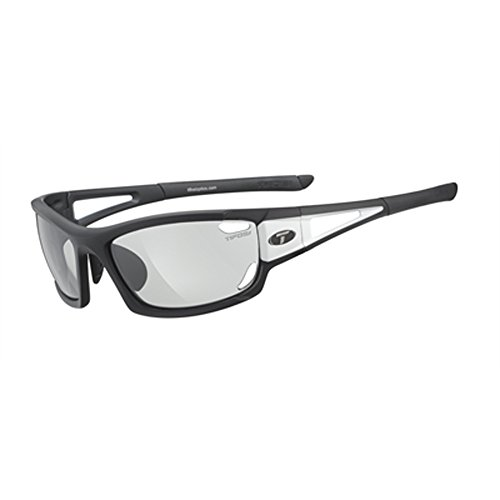 Tifosi Dolomite 2.0 1020304831 Wrap Sunglasses,Black & White,141 - Sunglasses Photochromic Tifosi