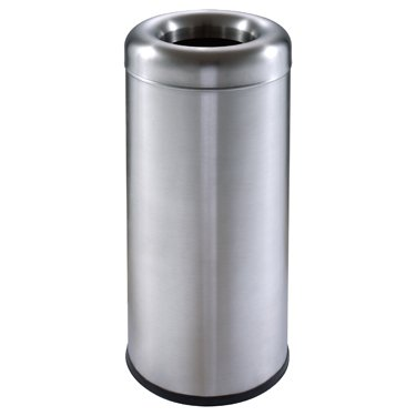 ef1232ae185 Image Unavailable. Image not available for. Color  15-Gal. Stainless Steel  Marquis Curved-Top Trash Receptacle