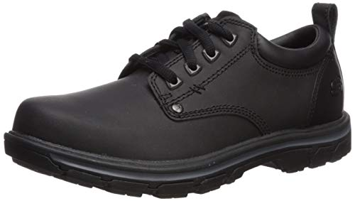 Skechers Men's Segment Rilar Oxford,Black,13 M US (Skechers Oxford Mens Shoes)