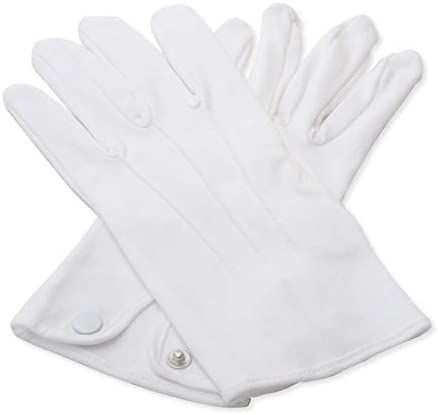 Edwardian Men's Formal Wear Masonic White 100% Cotton Gloves £7.98 AT vintagedancer.com