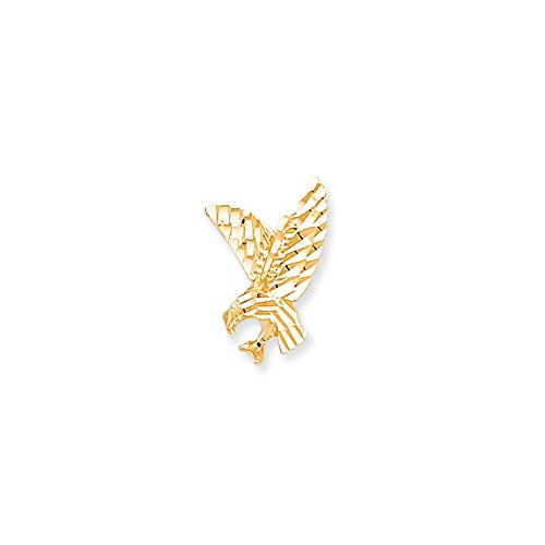 Solid 10k Yellow Gold Eagle Pendant Charm (11mm x ()