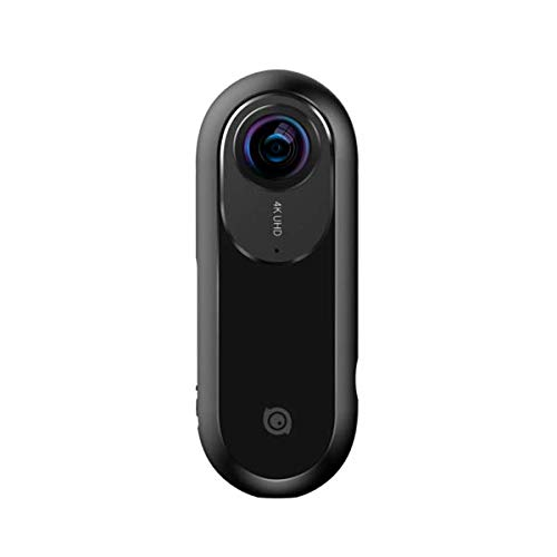 Insta360 ONE - Videocámara de Acción 360° con Resolución de Video 4K, Estabilización FlowState, Foto de 24 MP, Bluetooth 4.0, MicroSD, Lightning, Compatible con iPhone X/8/7/6 Plus - Negro
