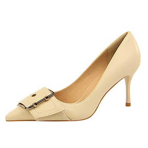Toggle BalaMasa Pumps Seams apricot Charms Frayed Shoes Urethane Womens APL10713 EqxfrwYE