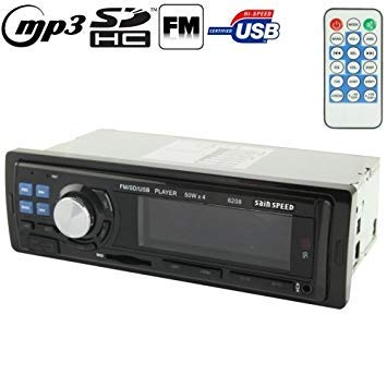 Uniqus 50W x 4 Car MP3 Player with Remote Control, Support MP3   FM SD Card USB Flash Disk AUX in (6208)