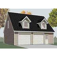 Garage Plans: Two Car Garage With Loft Apartment - Plan 1476-4