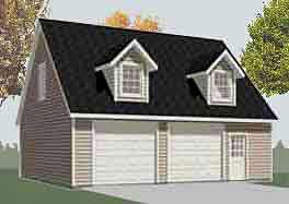 Garage plans two car garage with loft apartment plan for Cost to build 2 car garage with loft