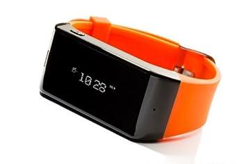 MyKronoz ZEWATCH - Smartwatch (Bluetooth, Pantalla táctil, Altavoces incorporados), Naranja [Importado]