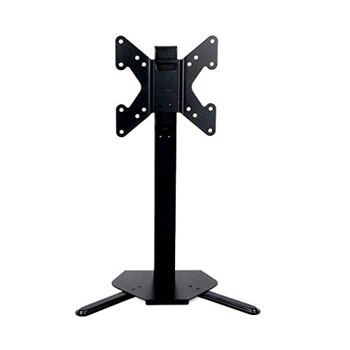17' Lcd Flat Screen - Tabletop TV Monitor Stand Holder Fits 17-42 Inch LCD LED Flat Screen VESA Upto 200x200, 3 Level Height Adjustments, Heavy Duty Metal Base