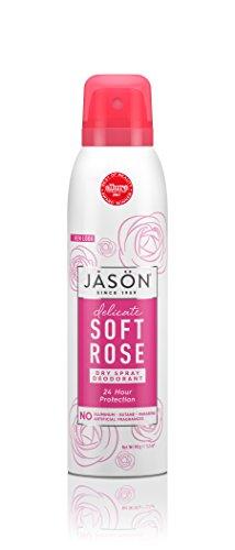 JASON Soft Rose Dry Spray Deodorant, 3.8 oz. (Packaging May Vary) (Deodorant Dry)