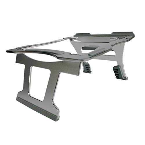 3dVo 6 Height Foldable Ventilated Adjustable Aluminum Laptop Stand - Portable Notebook Stand with Silicone Pad for 10