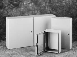 Hoffman CSD12126 Wall-Mount Enclosure, NEMA 4/12, Steel, 12.00'' x 12.00'' x 6.00'', Gray