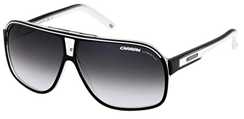 Carrera Grand Prix 2 T4M Pilot Sunglasses Lens Categ, Black/White, ()