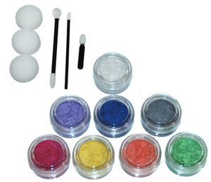 Custom Body Art 8 Color Pearlescent Face Paint Color Set. Large 10-ml Jars with Applicator Kit. A Full 8 Color Rainbow Pallet, Perfect for Face Painting At Any Party ()