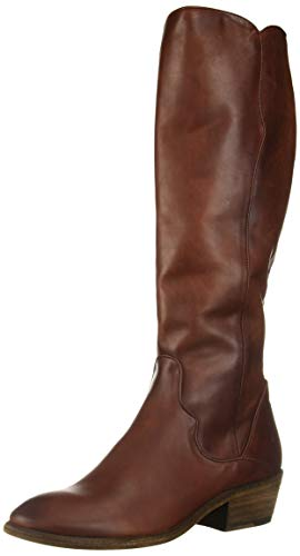 FRYE Women's Carson Piping Tall Knee High Boot, Mahogany, 11 M US