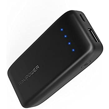 Portable Charger RAVPower 6700 Battery Pack 6700mAh Power Bank (2.4A Output & 2A Input, iSmart 2.0 Technology) External Power Pack with iSmart Technology for Smartphones and More (Black)