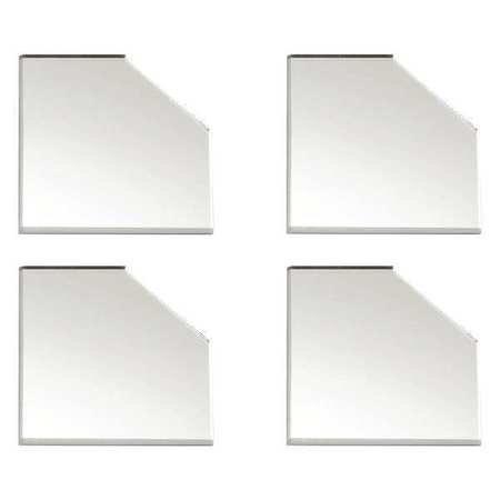 Corner Plates, Clear Mirror, 3 in. L, PK4