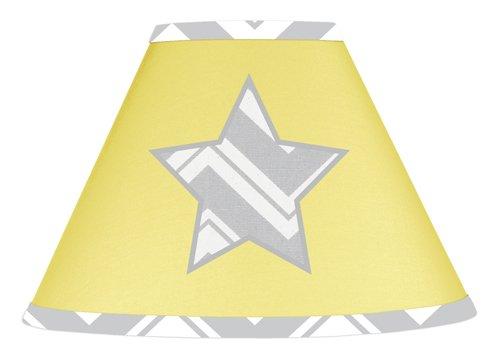 Yellow and Gray Chevron Zig Zag Lamp Shade by Sweet Jojo Designs