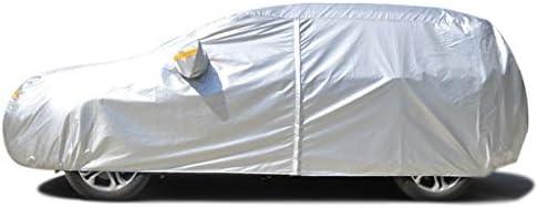 車のカバー NISSANヌル防雨全エクステリアの防塵に対するスクラッチサンプロテクション屋外モバイルガレージカーアクセサリーカーカバーカバーと互換性 (Color : Silver Oxford)