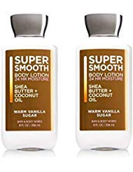 Bath Formula (Bath and Body Works 2 Pack Warm Vanilla Sugar Body Lotion New Super Smooth Formula 8 Oz.)