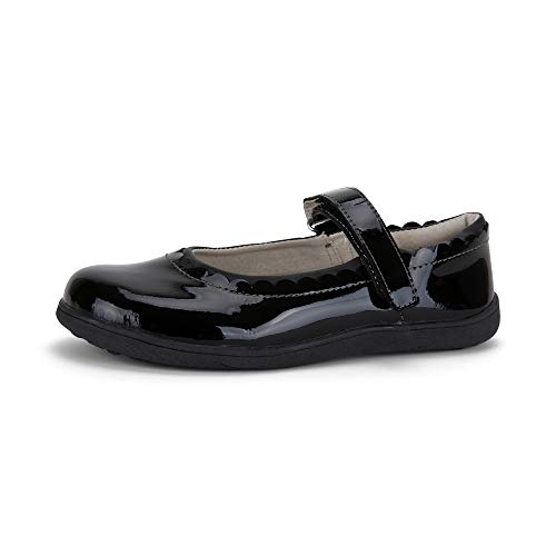 See Kai Run - Jane II Mary Jane Shoes for Kids, Black Patent, 9.5