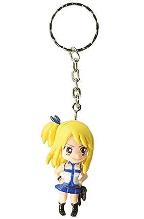 Fairy Tail - Llavero Lucy Heartfilia 3D PVC Figura - 5 cm ...