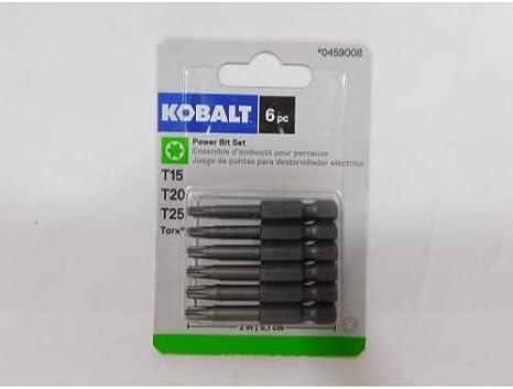 Kobalt 0459008 - Juego de 6 puntas de destornillador Torx de 2 ...