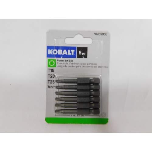 Kobalt 0459008 6-Pack Torx 2-in Power Screw Tip Bits T15 T20 T25 ()
