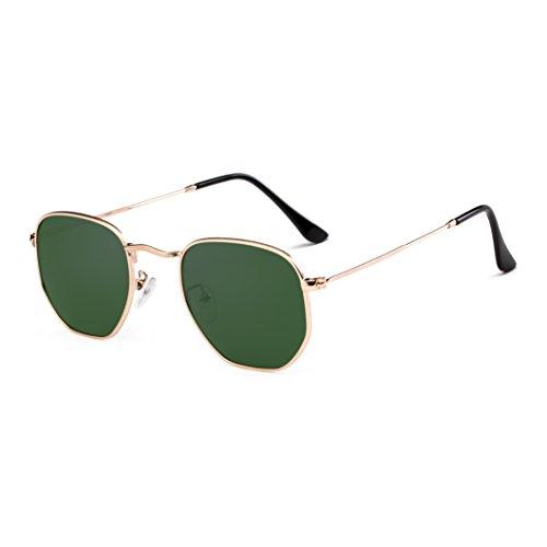 Small Polarized Sunglasses Men Women Round Hexagonal Metal Frame Sun Glasses
