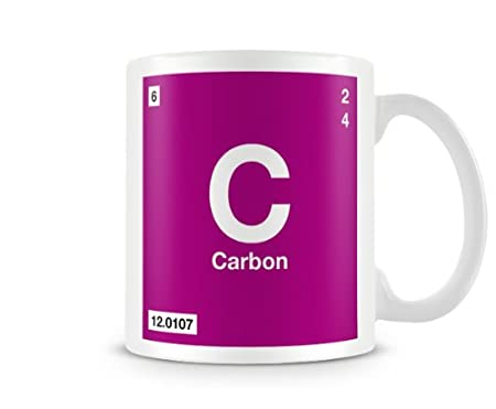 Periodic Table Of Elements 06 C Carbon Symbol Mug Amazon