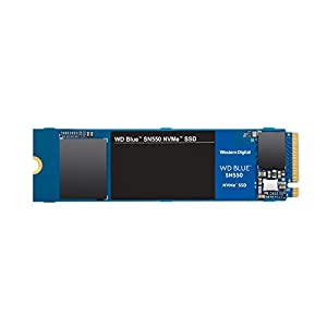 WD Blue SN550 500GB NVMe Internal SSD – 2400MB/s R, 1750MB/s W, 5Y Warranty (WDS500G2B0C)
