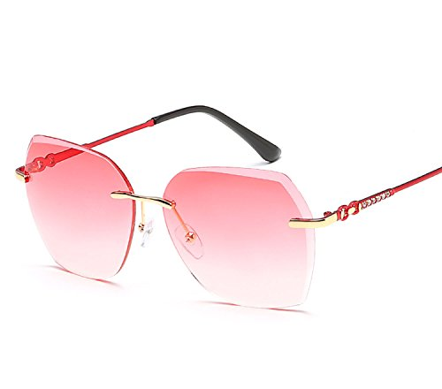ladies trend sunglasses color marine film frameless sunglasses metal sunglasses