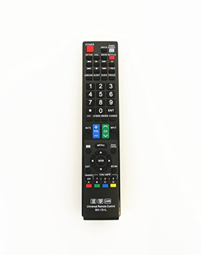 Gvirtue Universal Remote Control Compatible Replacement for Sharp Smart TV/ HDTV/ 3D/ LCD/ LED, GA935WJSA GA806WJSA GA840WJSA GA480WJSB GB004WJSA GB118WJSA GB004WJSA GB005WJSA GJ221-C GJ221-R