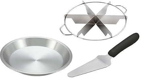 Culinary Depot 6 Slice Pie Cutter w/ Side Handle, Aluminum 9