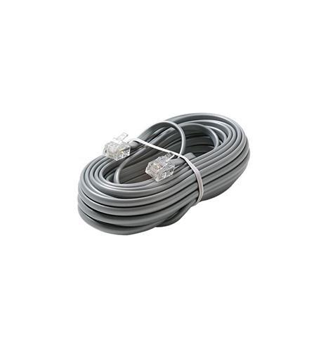 1 - 4C 25' Silver Modular Line Cord