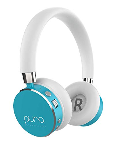 Puro Sound Labs BT2200 On-Ear Headphones Lightweight Portable Kids Earphones with Safe Wireless, Volume Limiting, Bluetooth and Noise Isolation for iPhone Android PC Tablet Teal