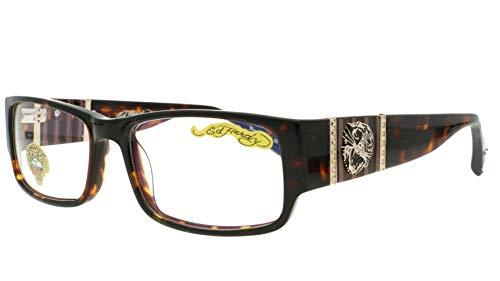 - Ed Hardy EHO-732 Womens Designer Eyeglasses - Tortois Gold
